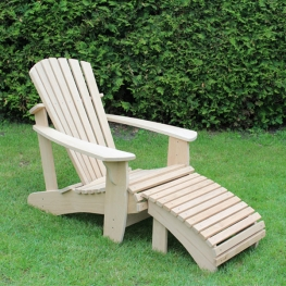 Adirondack Deck Chair -Kalle- mit Footrest